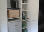 Microwave +armoire